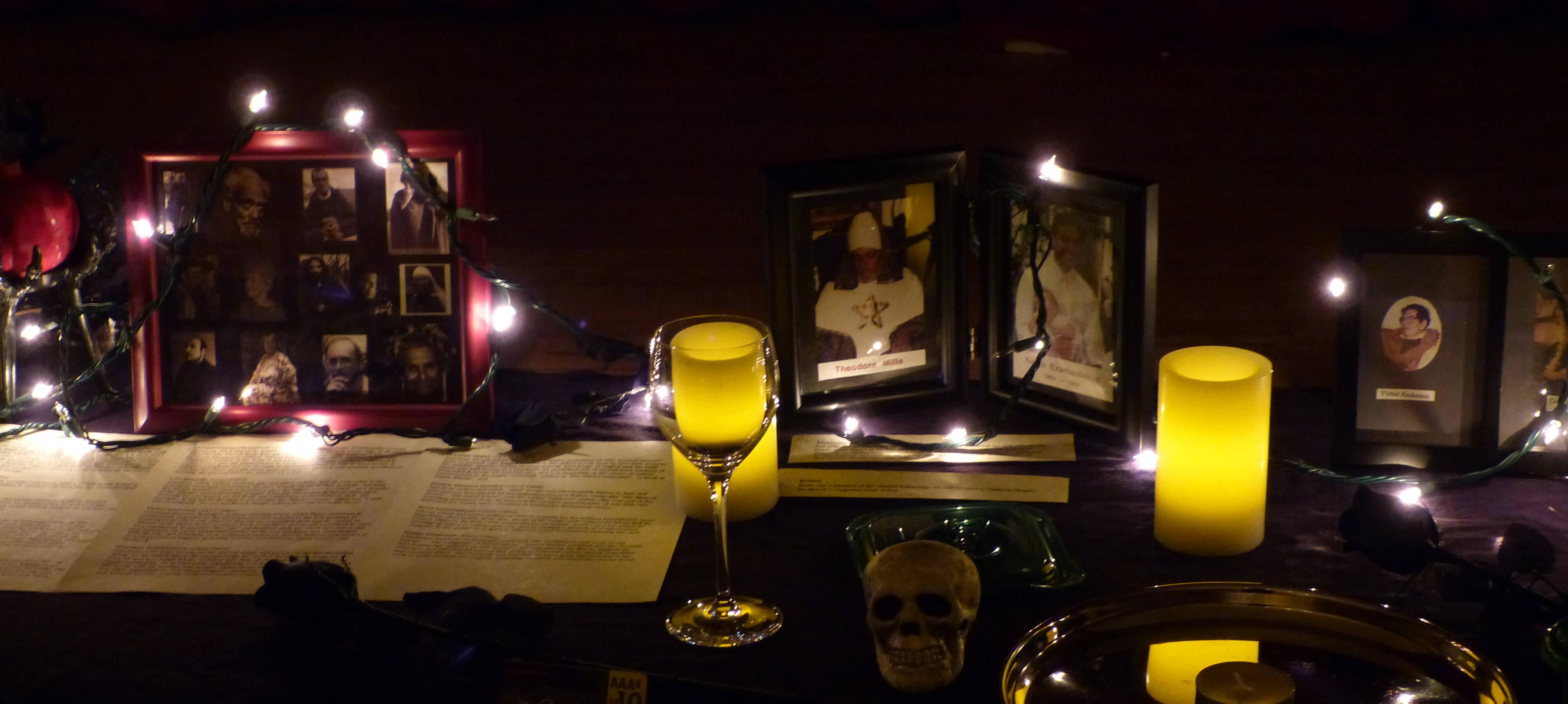 Close up EarthSpirit Samhain Altar